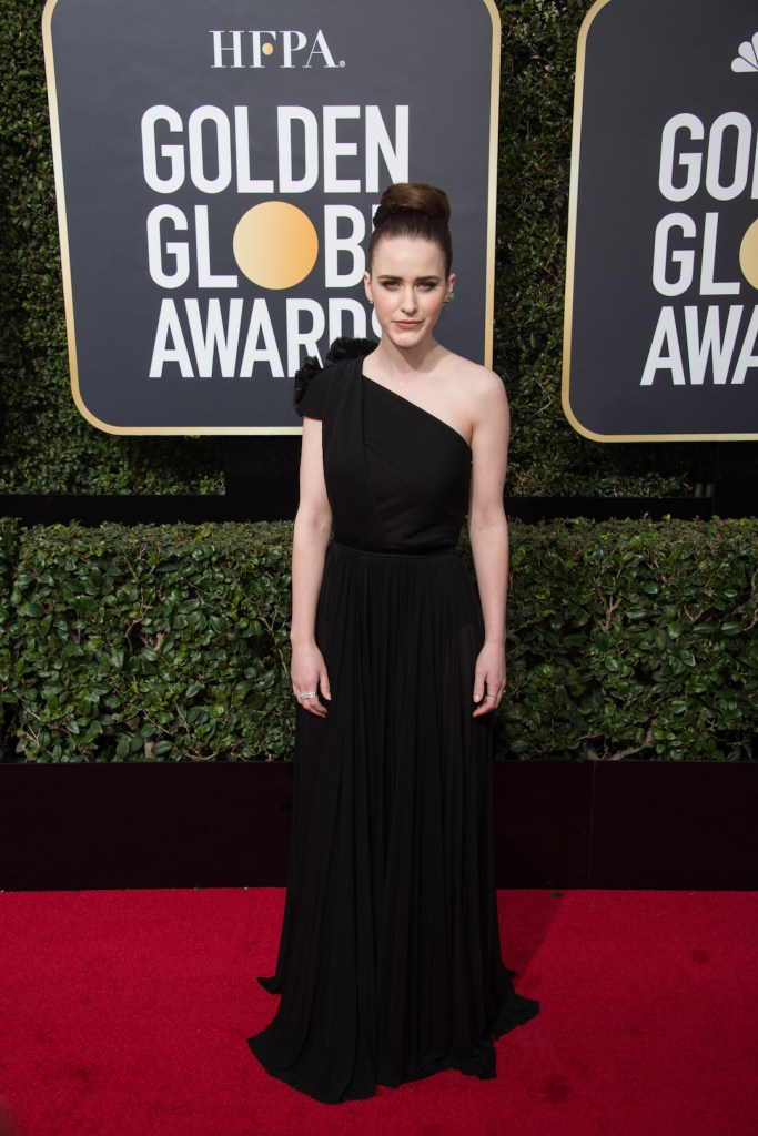 Rachel Brosnahan arrives at the 75th Annual Golden Globe Awards 4chion Lifestyle