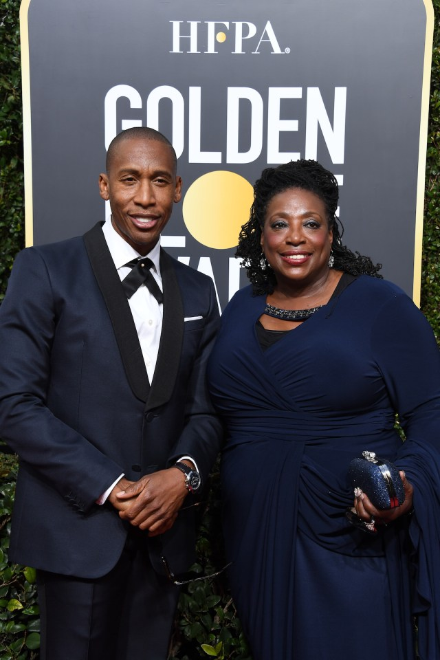 Raphael Saadiq and guest arrive at the 75th Annual Golden Globe Awards 4chion lifestyle