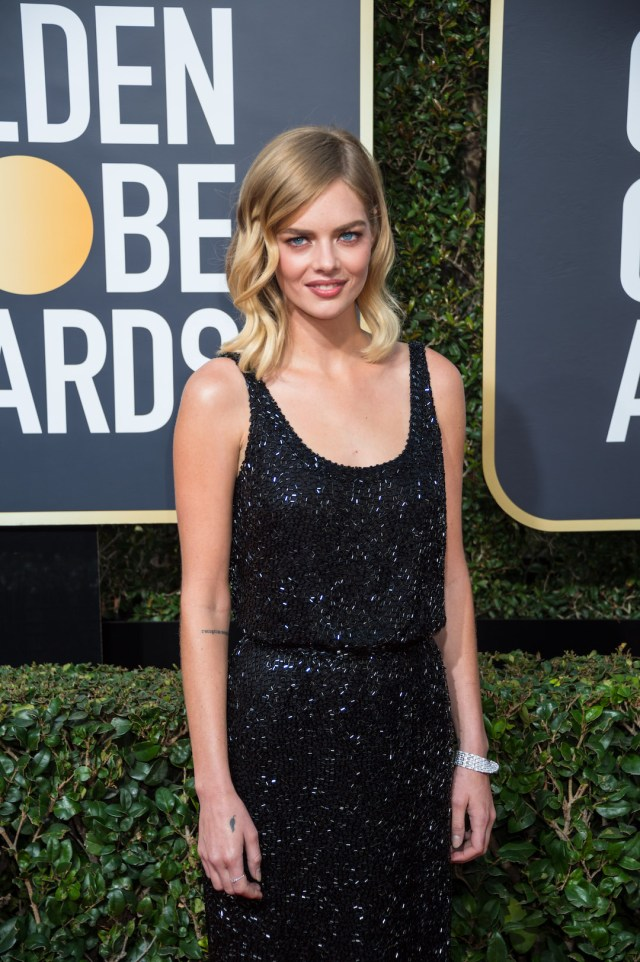 Actor Samara Weaving attends the 75th Annual Golden Globes Awards 4chion lifestyle