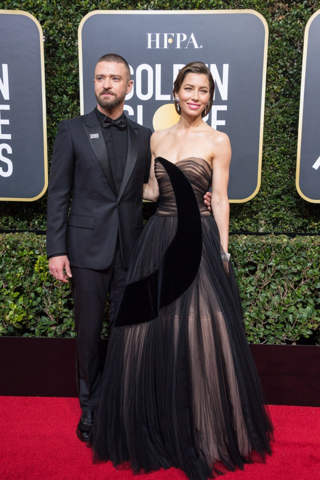 Jessica Biel and Justin Timberlake attend the 75th Annual Golden Globes Awards 4chion lifestyle