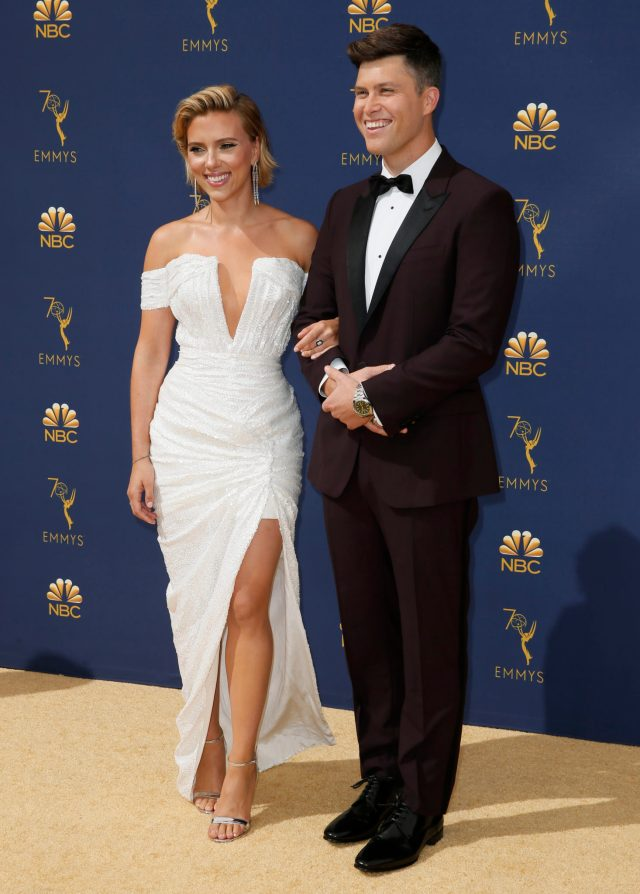 Scarlett Johansson, Colin Jost Emmys 4Chion Lifestyle