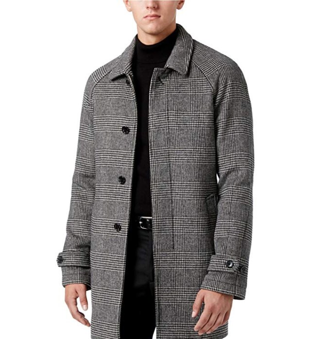 Michael Kors Mens Plaid Overcoat Dress amazon ads 4chion lifestyle