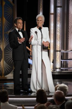 Ben Stiller and Jamie Lee Curtis Golden Globes 4chion lifestyle Hairstyle