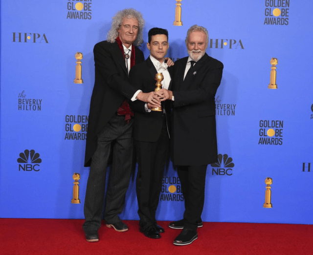 Rami Malek Brian May Roger Taylor Golden Globes 4chion lifestyle