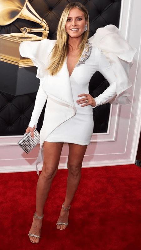 Heidi Klum Grammy Red Carpet Fashion 4chion lifestyle'