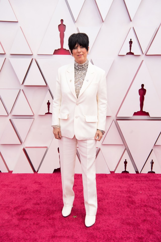 Diane Warren at The Academy Awards red carpet 4Chion Lifestyle 93rd Oscars