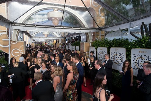 The red carpet at the 74th Annual Golden Globe Awards at the Beverly Hilton in Beverly Hills, CA on Sunday, January 8, 2017.