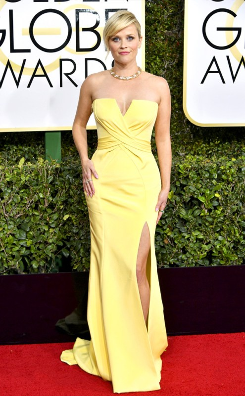 Reese Witherspoon Golden Globes Red carpet