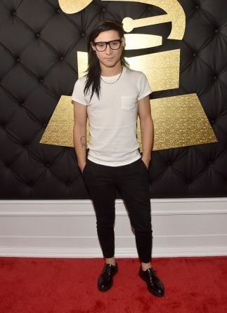 Skrillex Grammys Red Carpet