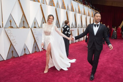 Chrissy Teigen and John Legend arrives on the red carpet of The 89th Oscars® at the Dolby® Theatre in Hollywood, CA on Sunday, February 26, 2017.