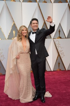 Debbie Matenopoulos arrives with guest on the red carpet of The 89th Oscars® at the Dolby® Theatre in Hollywood, CA on Sunday, February 26, 2017.