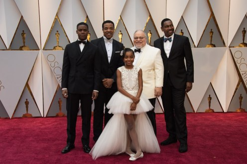 Actors Jovan Adepo, Russell Hornsby, Saniyya Sidney, Stephen Henderson and Mykelti Williamson arrive on the red carpet at The 89th Oscars® at the Dolby® Theatre in Hollywood, CA on Sunday, February 26, 2017.