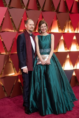 Love Larson (L) and Eva von Bahr, Oscar® nominees, arrive on the red carpet of The 89th Oscars® at the Dolby® Theatre in Hollywood, CA on Sunday, February 26, 2017.