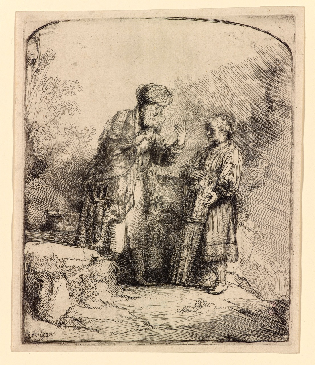 Image result for rembrandt Abraham and Isaac