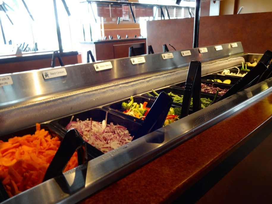 Veggie Bar at Mongo's Grill