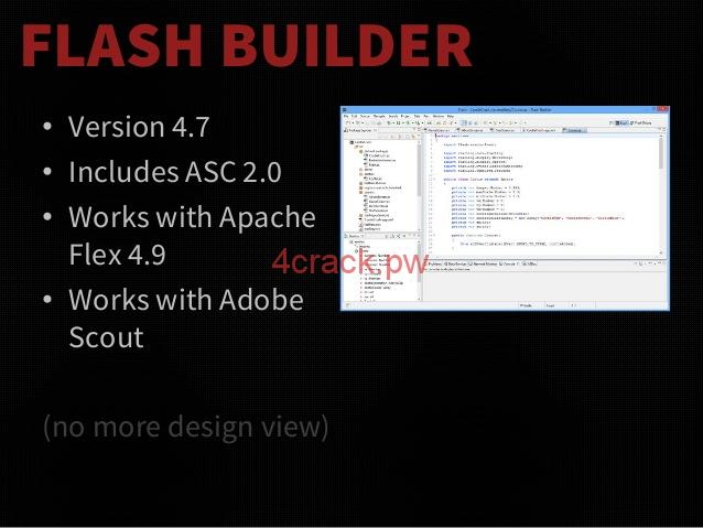 Adobe Flash Builder 4.7 Crack with Serial Number