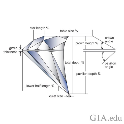 small resolution of the carat weight of the diamond relative to its diameter is how graders determine the weight ratio which is one of the factors the influence a diamond s