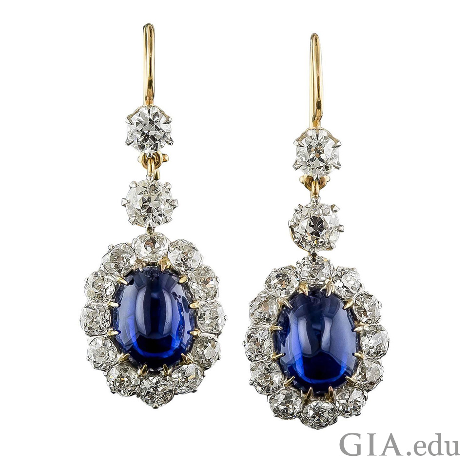 Two 11.48 carats blue sapphires