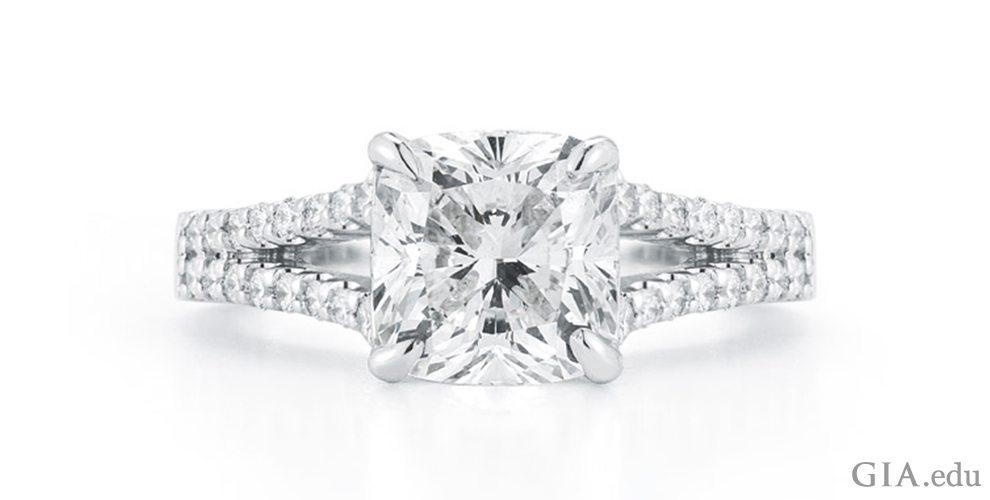 the cushion cut engagement ring a