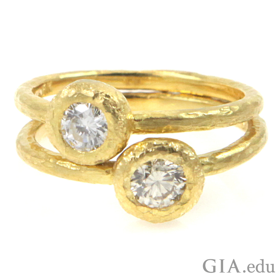 High karat yellow gold ring.
