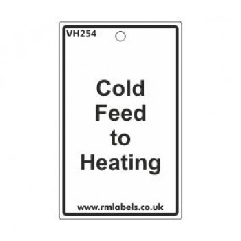 Cold Feed to Heating Label Code VH254