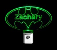 Personalized Custom Batman LED Night Light on Luulla