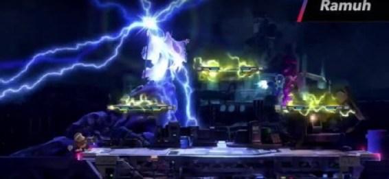 Smash Bros 3DS Midgar Stage summon