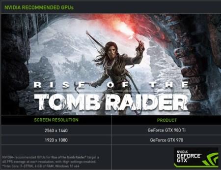 Rise of the Tomb Raider nvidea