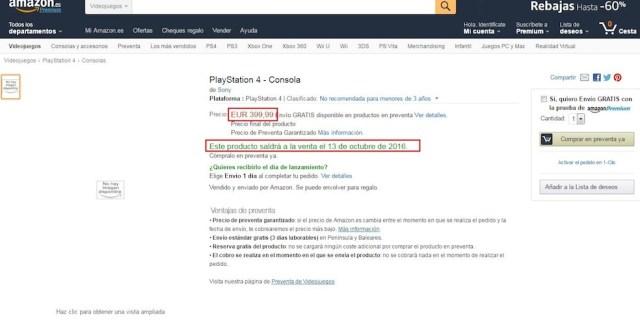 PS4 Neo Amazon Leak