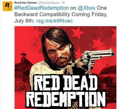Red Dead redemption tweet
