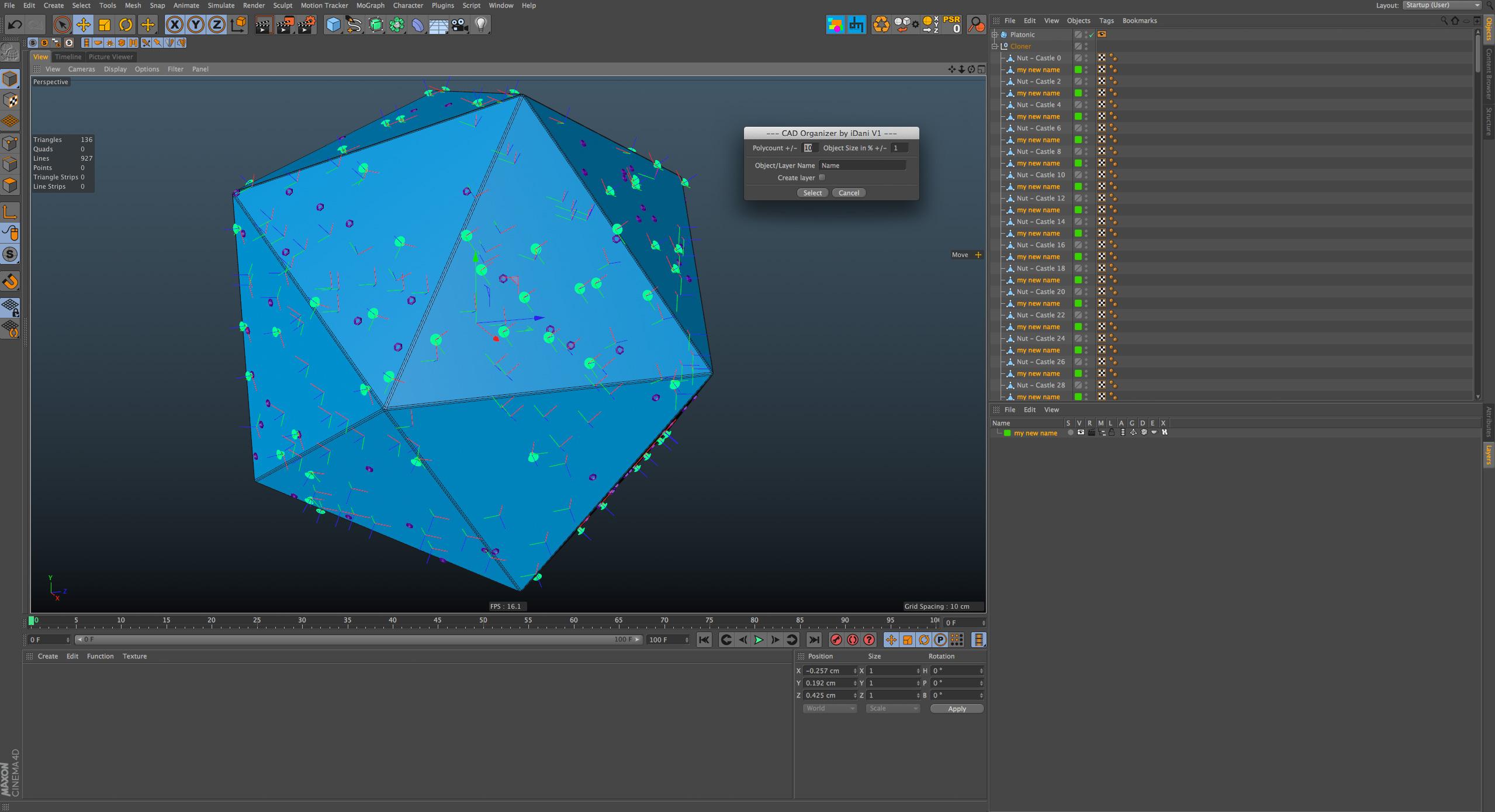 Cinema 4D CAD Organizer