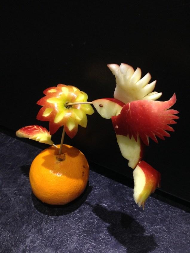 Hummingbird getting Nectar