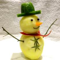 Apple Snowman