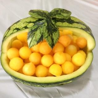 Yellow Watermelon Basket