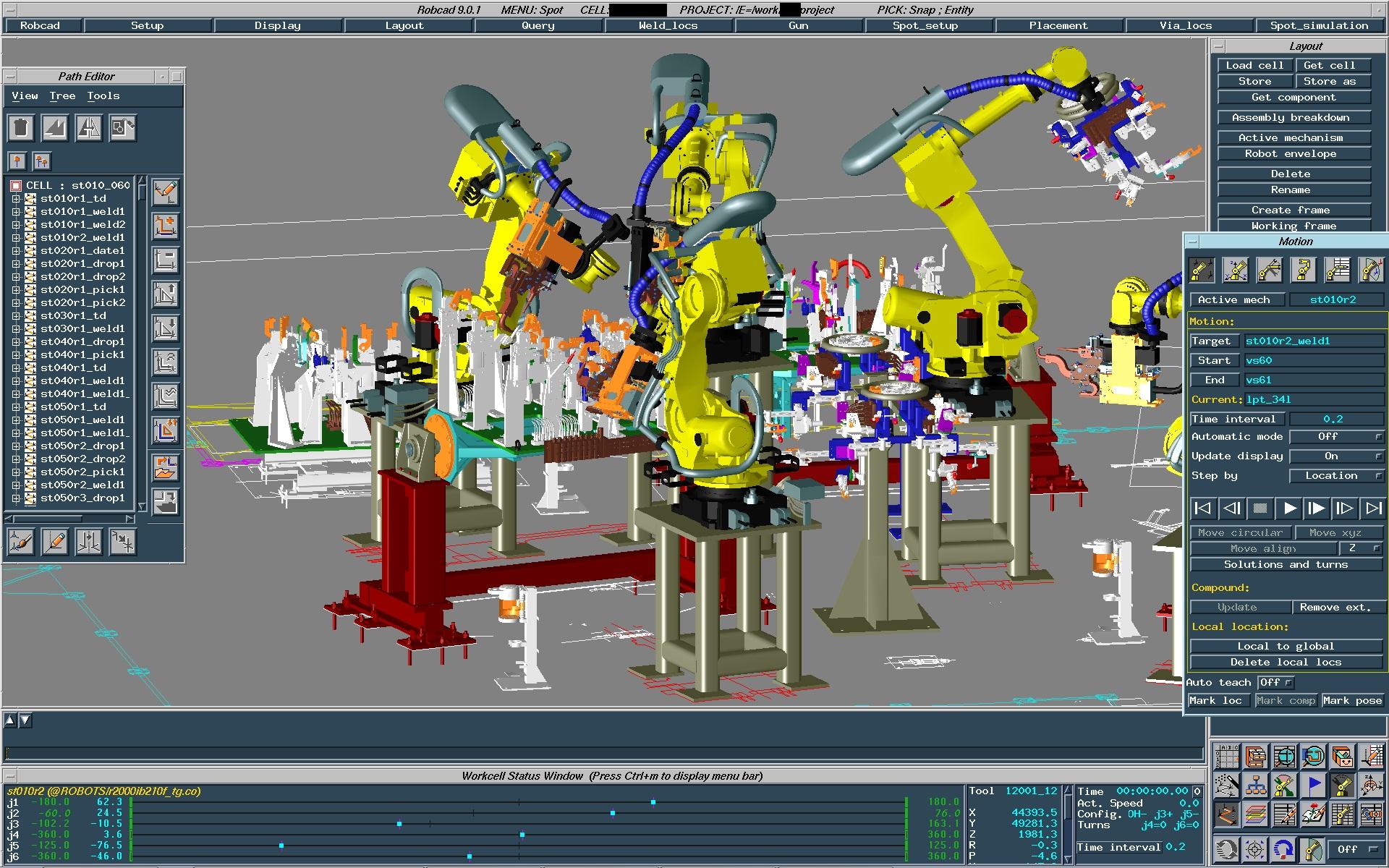 Tecnomatix RobCAD 4D Systems