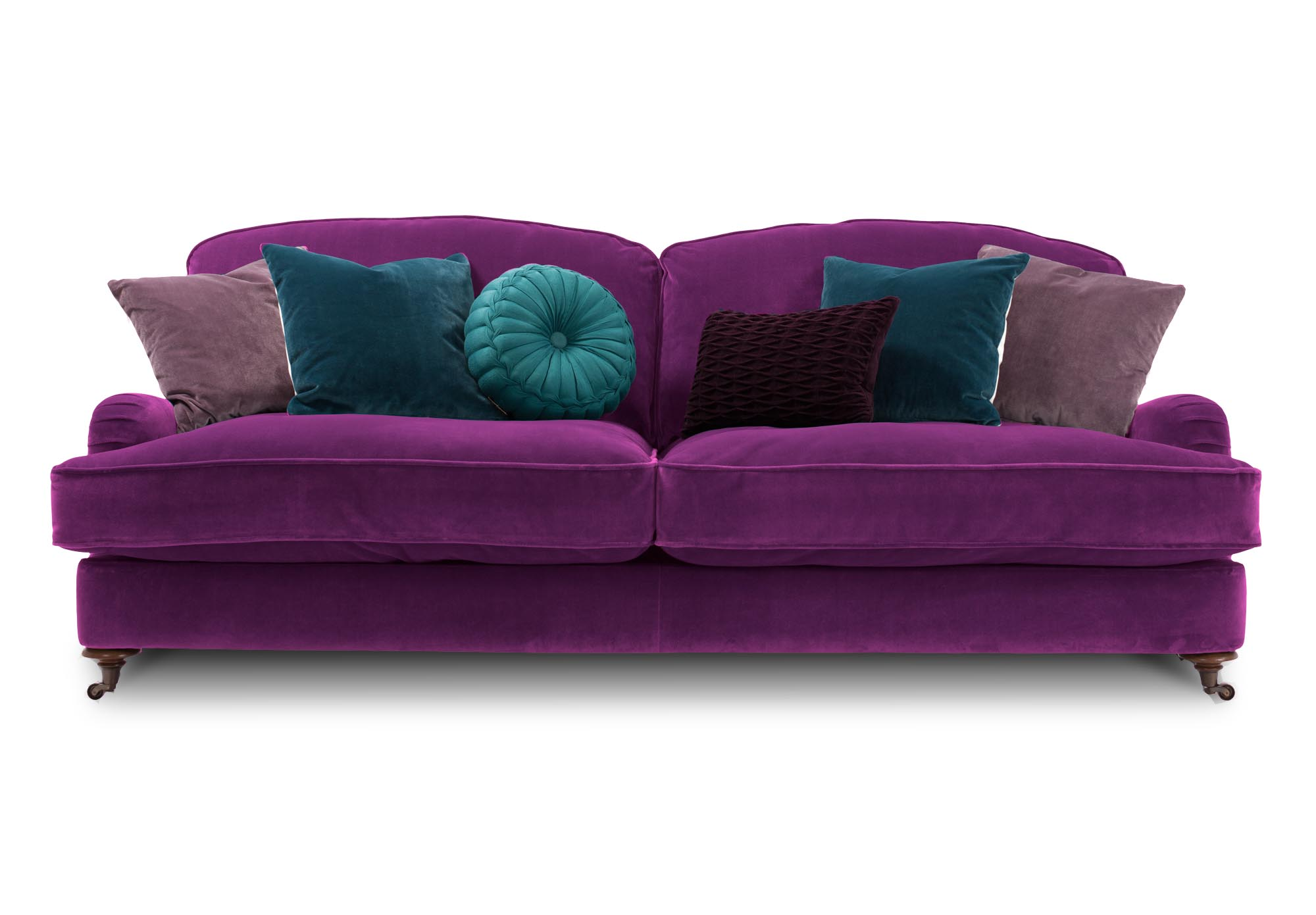 purple sofas sofa chicago 2018 tickets harlequin isabelle 3 seater from furniture village