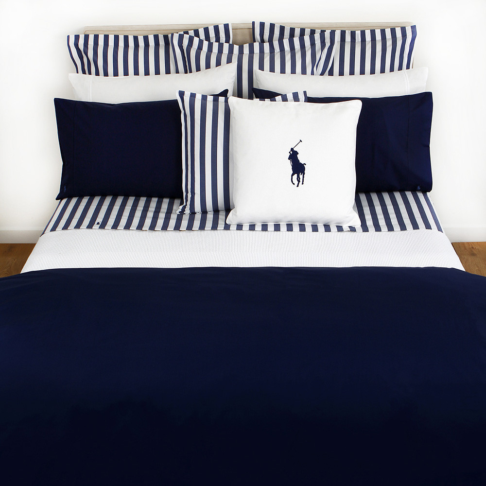 Ralph Lauren Polo Player Navy Double Duvet Cover From