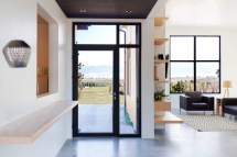 House with Black Doors and Window Frame