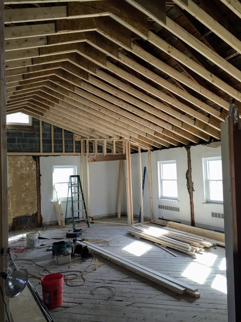 Raising the pitched ceiling — New Building Project
