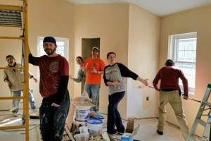 Painting the new church — New Building Project