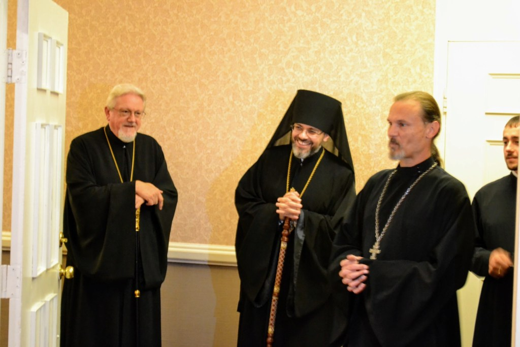 Archbishop Antony, Bishop Daniel, and Fr. Gregory Czumak — 10th Anniversary Reception and Luncheon