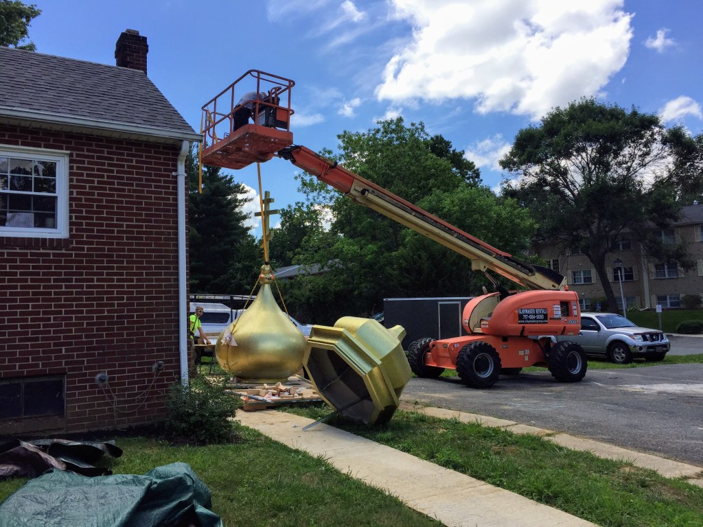 Installation of the roof domes — New Building Project