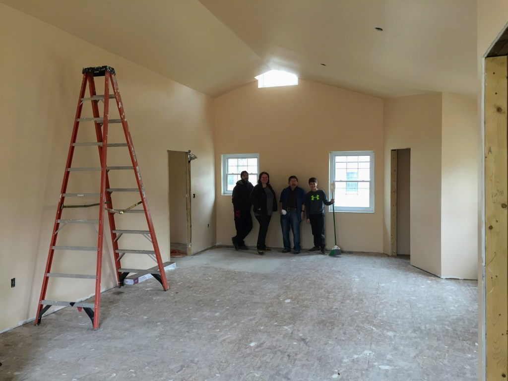 Cleaning up the new church — New Building Project