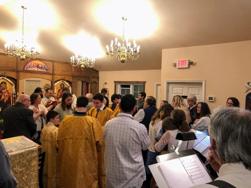 Communion of the Faithful, Festal Divine Liturgy - Great and Holy Pascha, 2019