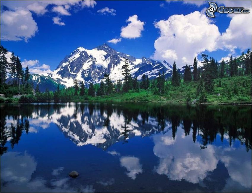 Rd.com knowledge facts dave sandford when winter winds pour in, the great lakes are easily mistaken for oceans. Snowy Mountain Above The Lake