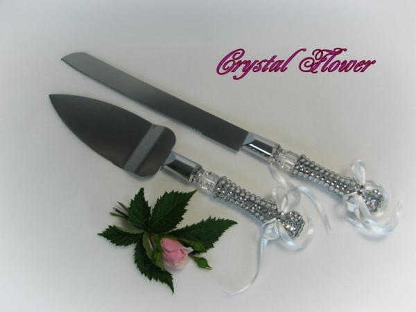 Swarovski Crystals Encrusted Cake Knife And Server Set