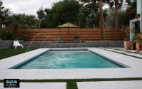 Modern Pool with Deck Jets - All Aqua Pools