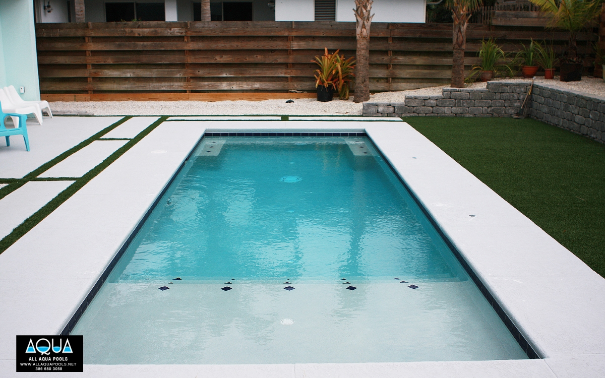 Modern Pool with Deck Jets