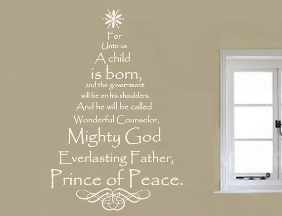 Wall Decal Scripture Christmas Tree Vinyl Wall Decal 22134