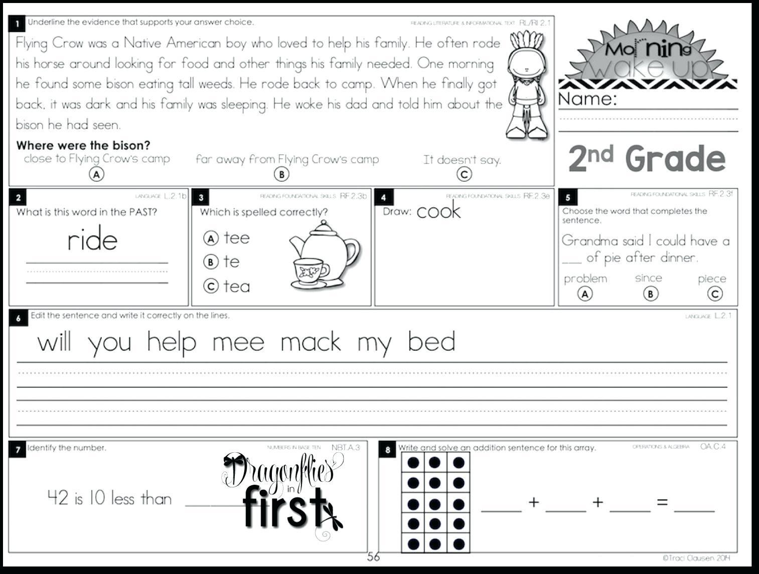 Free Printable 4th Grade Morning Work